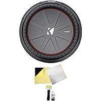 Kicker 43CWR152 COMPR15 15 1600 Watt DVC Car Subwoofer Sub CWR15-2 + Rockmat