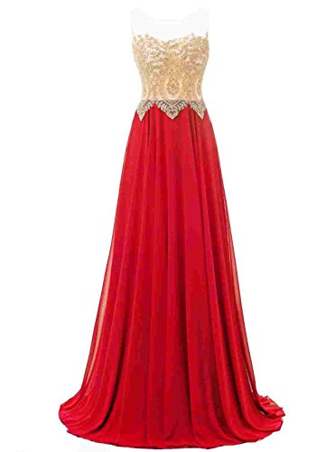 Green Women's Bridesmaid Annie's Gown Evening Chiffon Sleeveless Dress Bridal Sqw5nR8U