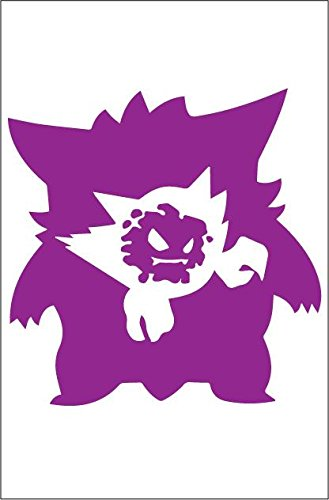 7071a0a2 Amazon.com: Gastly, Haunter, Gengar 6x6 Inch High Quality Out Door ...