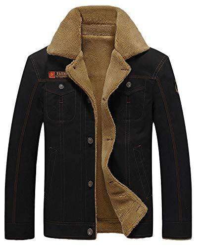 Cappotto Inverno Giacca Teddy Uomo Giubbotto Nero Parka Caldo Fleece Moda Invernali Imbottita Da Cappotti Saag1nx8A
