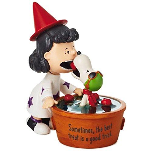 Hallmark Peanuts Snoopy & Lucy Bobbing for Apples Figurine, 4.5
