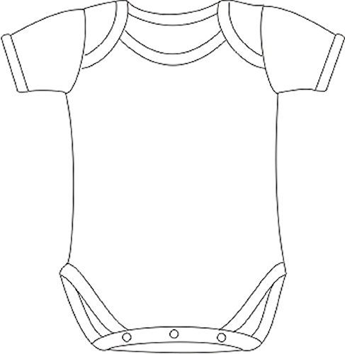 Baby Jay Soft Cotton Onesies, Short Sleeve Lap Shoulder Bodysuit, WSSE White 6-12 5-Pack by Baby Jay (Image #3)