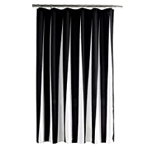 M-Egal Black and White Vertical Stripes Polyester Fabric Waterproof Shower Curtain white and black 70*79inch
