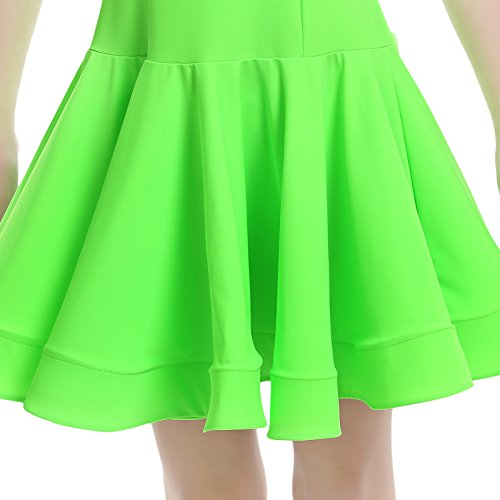 Embiofuels(TM) New Girls Candy Color Ballroom Tango Dance Costumes 3/4 Long Sleeve Dance Practice Clothing Turtleneck Toddler's Party Dress by Embiofuels (Image #4)