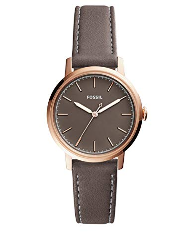 Fossil Women's Neely Stainless Steel Quartz Watch with Leather Calfskin Strap, Grey, 16 (Model: ES4339) (Fossil Watch For Ladies)