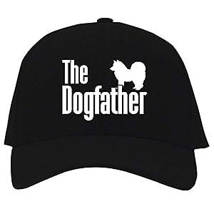 Idakoos The Dogfather Alaskan Klee Kai Baseball Cap Black 3