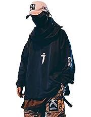 Niepce Streetwear Hoodie Mens Long Sleeve Pullover Jersey Techwear Kanji Sweatshirt