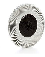 Scotch-Brite(TM) Radial Bristle Brush, Cubitron/Aluminum Oxide, 6000 RPM, 6 Diameter x 7/16 Width, 120 Grit (Pack of 1)