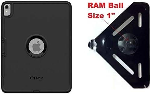 SlipGrip RAM 1 Ball Compatible Mount Designed for Apple iPad Pro 12.9 3rd Gen Tablet Otterbox Defender Case