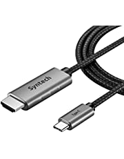 USB C to HDMI Cable (4k 60Hz), Syntech USB-C (Thunderbolt 3 Compatible) to HDMI Cable for MacBook Pro 2019 and Before, MacBook Air/iPad Pro 2018, Samsung Galaxy S10/S9 and More USB C Devices - 6 feet