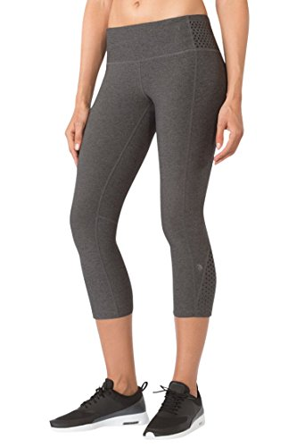 MPG Women's Julianne Hough Collection Meditation Yoga Capri XL Htr Charcoal
