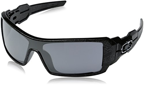 Oakley Men's Oil Rig Polished Sunglasses,Polished Polished Black/Silver Ghost Text/Black Iridium,one - Oakleys Oilrig