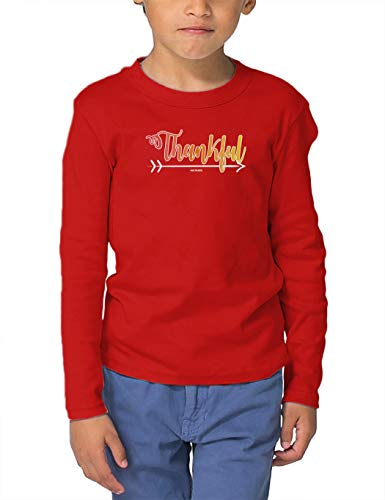 Thankful Arrow - Native American Long Sleeve Toddler Cotton Jersey Shirt (Red, 2T)