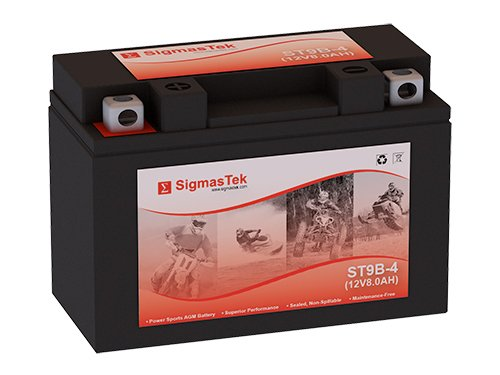 12 Volt 8 Amp Hour Sealed Lead Acid Battery Replacement with NB Terminals by SigmasTek ST9B-4