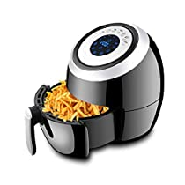 BHDYHM Air Fryer Fast Cook Digital Touch Screen Oil Less Hot Air Fryer Oven Nonstick Low Fat Electric