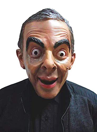 Scary Funny Cute Mask Halloween, Mr. Bean Mask President Famous People Celebrity Human]()