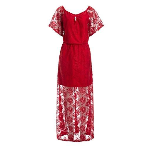 Vestido Adulto De Renda Vermelha Com Forro