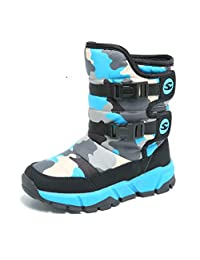 Maybolury Boys Snow Boots Winter Waterproof Slip Resistant Cold Weather Shoes (Toddler/Little Kid/Big Kid)