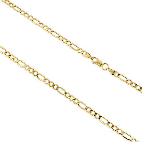 14kt yellow gold figaro chain (Chain Italian Style Figaro)