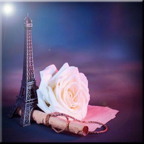 Rikki Knight Parisian Romance Design Ceramic Art Tile 12 x 12