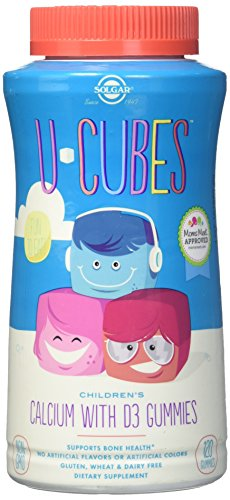 Solgar – U-Cubes Children's Calcium with Vitamin D3, 120 Gummies