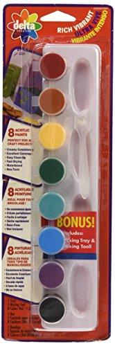 Delta Creative Paint Pots Set with 8 Rich Vibrant Colors, 029340056M