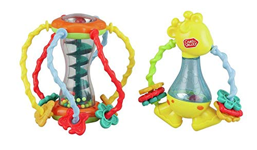 Amazing Crystal Gifts Chad Valley Discovery Ball and Giraffe Great For Improving Your Little Ones Hand-Eye Co-Ordination