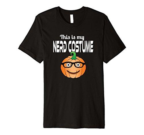 Nerds Candy Costume (Mens This is My Nerd Costume Funny Halloween Pumpkin T Shirt XL Black)