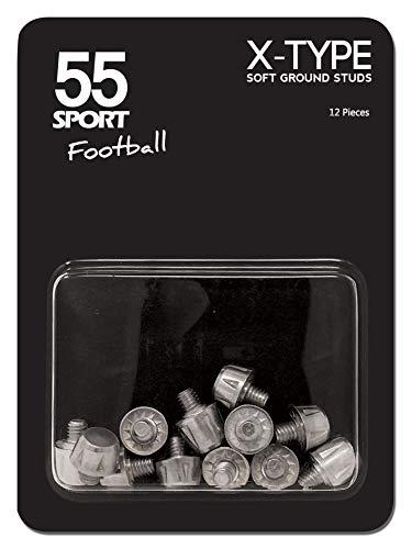 Calcio nbsp;sport Da Tacchetti Scarpe Superfici Per Silver type Ricambio Di 55 Morbide X SpwqUB