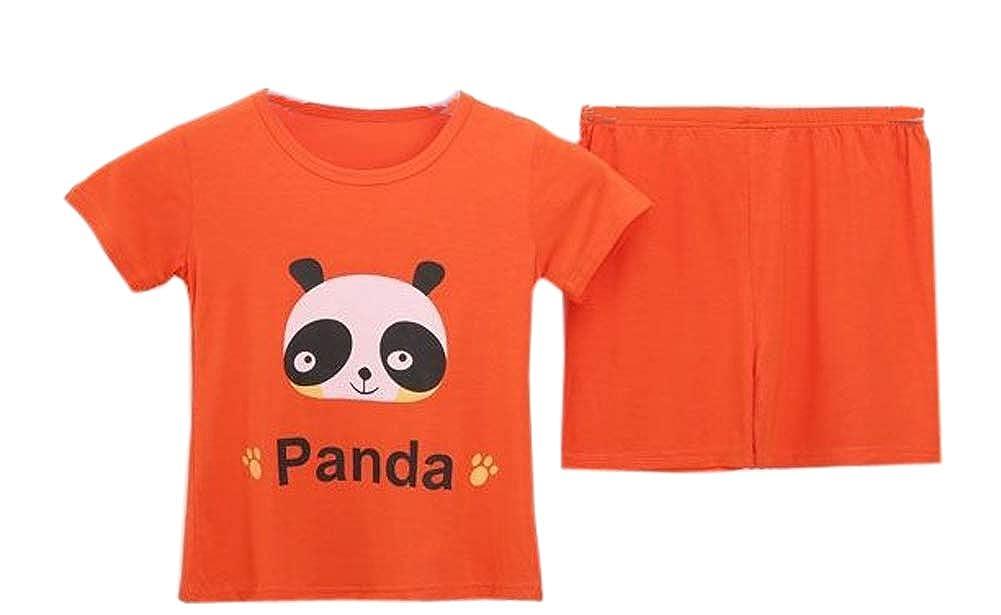Habigua Little Boys Girls Soft Pajama Snug Fit Pjs Set Red