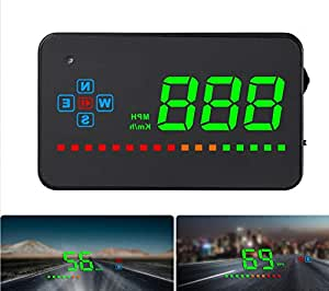 Car GPS Head Up Display, Windshild LED Projector, HUD Reflection Film, GPS Speedometer, Car Head-up Display, Plug and Play for All Cars and Trucks