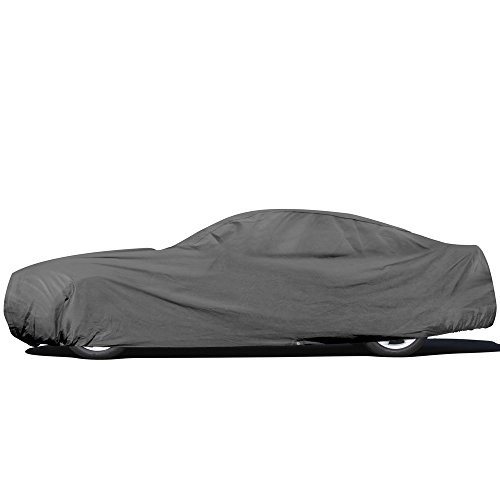 OxGord Car Cover - Basic Out-Door 4 Layers - Tough Stuff - Ready-Fit/Semi Glove Fit - Fits up to 204 Inches ()