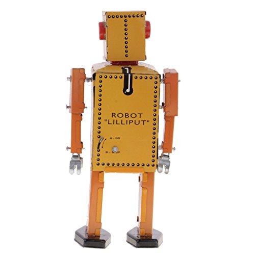 Jili Online 3PCS Vintage Tin Toy Mechanical Clockwork Lilliput Robot Collectible Models by Jili Online (Image #5)