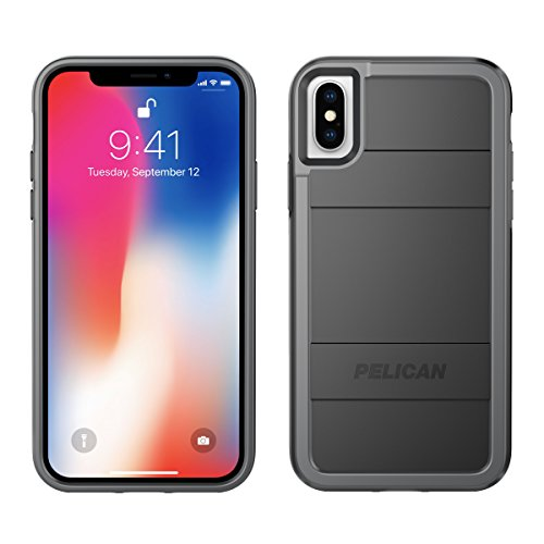 iPhone X Case | Pelican Protector iPhone X Case (Black/Light Grey)