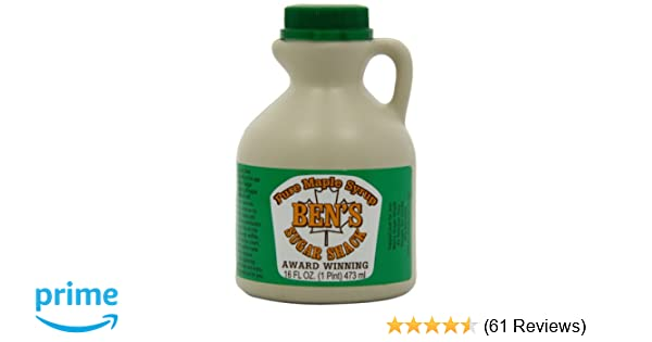 4b64961ae9d Amazon.com   Ben s sugar shack Dark Amber Pure Maple Syrup