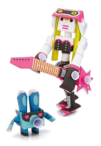 PIPEROID Linda & Doby Paper Craft Robot kit from Japan - Punk Rock Idol & Her Manager