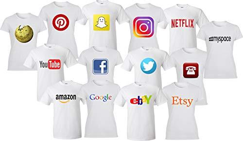 Handichi Design Social Media Apps Logo, Online Shopping Matching Halloween Shirt Different Sizes...