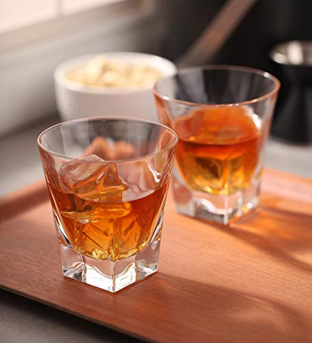 Heavy Base Shot Glass Set, 2-Ounce Shot Glasses for Scotch, Whiskey, Tequila, or Vodka, 6-Pack