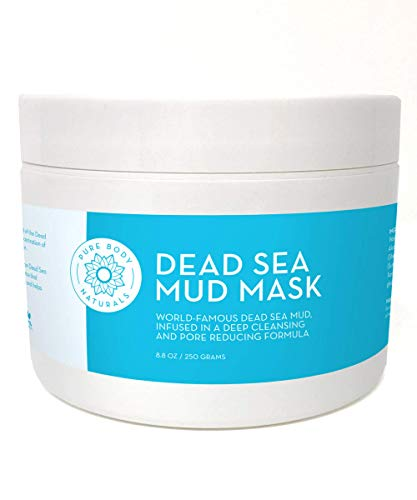 Dead Sea Mud Mask for Face and Body, Purifying Face Mask for Acne, Blackheads, and Oily Skin by Pure Body Naturals (Premium, 8.8 Ounce) by Pure Body Naturals
