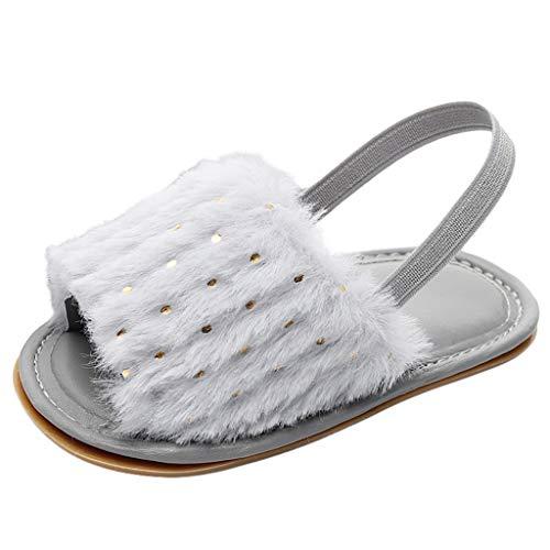 Vielguck 2019 Sandals for Babys Todder Boy Girls Fluffy Sequins Open Toe Flat Platform Summer Casual Indoors Shoes Slippers
