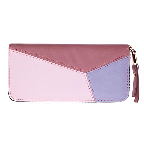Coin Women PU Purse Zipper Simple Red Long Widewing Rose Wallet Geometric Card Leather Clutch H1aAzxW