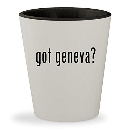 got geneva? - White Outer & Black Inner Ceramic 1.5oz Shot Glass (Geneva Sound System Model)