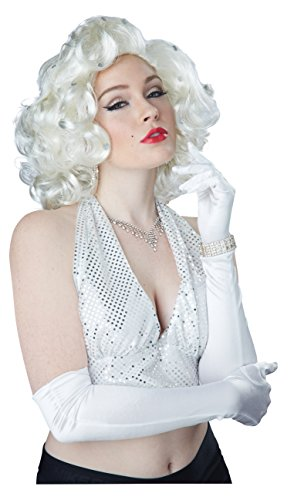 Glitz And Glamour Costumes (California Costumes Women's Glitz and Glamour Wig, Platinum Blonde, One Size)