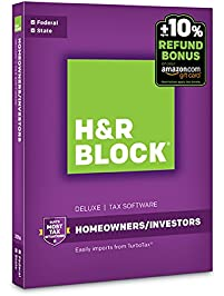 H&R Block Tax Software Deluxe + State 2016 + Refund Bonus Offer PC/Mac Disc [Old Version]