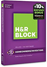 H&R Block Tax Software Deluxe + State 2016 + Refund Bonus Offer PC/Mac Disc