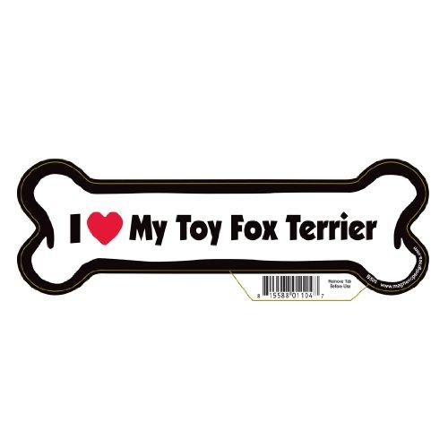 Fox Terrier Bone - Toy Fox Terrier Dog Bone Magnet