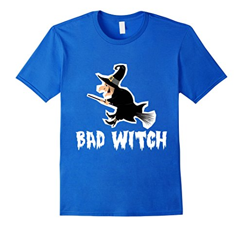 Homemade Halloween Costumes For Males (Mens Halloween Costume T-shirt Bad Witch XL Royal Blue)