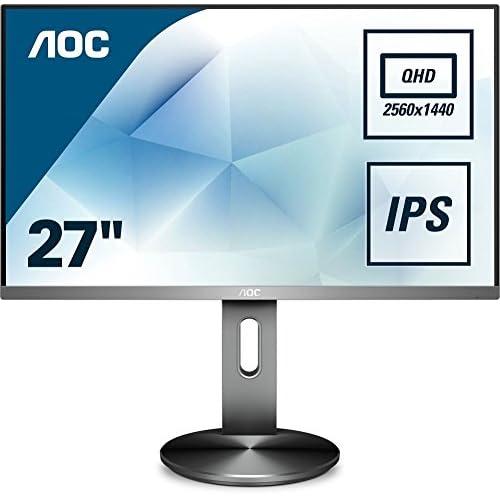 chollos oferta descuentos barato AOC Q2790PQU BT Monitor de 27 Quad HD resolución 2560 x 1440 Pixels tecnología WLED Contraste 1000 1 4 ms VGA Color Negro