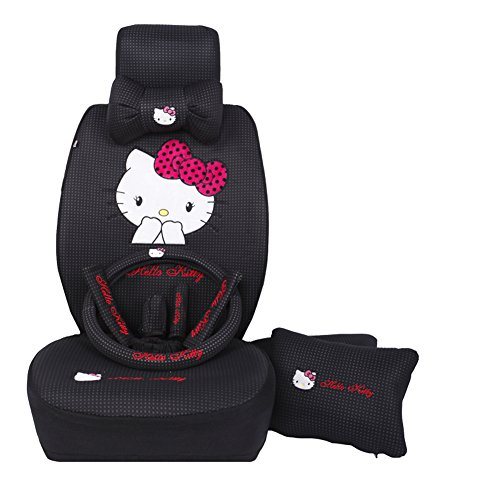 Cute Hello Kitty Car Seat Covers And Accessories Full Set 20pcs