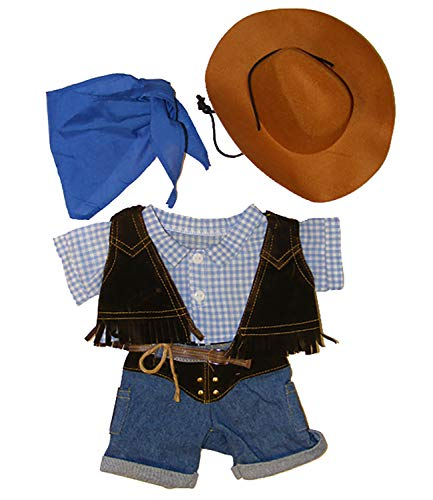 Cowboy w/Hat and Scarf Outfit Teddy Bear Clothes Fits Most 14